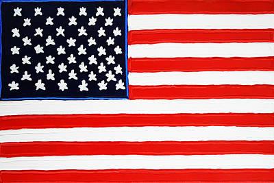 American Flag Poster by Matthew Brzostoski
