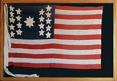 American Flag Of 1811 Poster by Linda Phelps