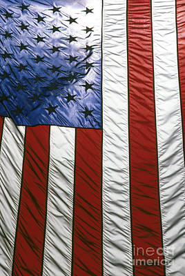 American Flag Poster by Tony Cordoza