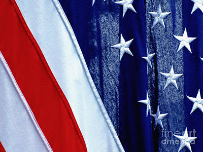American Flag United States Of America Poster by Carol F Austin