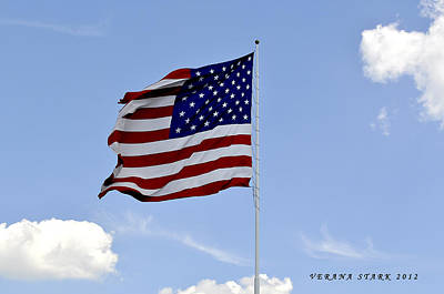 Poster featuring the photograph American Flag by Verana Stark
