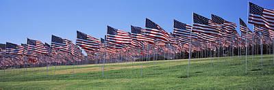 American Flags In Memory Of 911 Poster