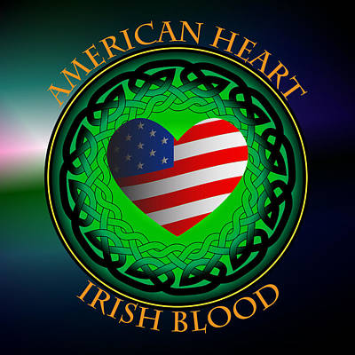 American Heart Irish Blood Poster