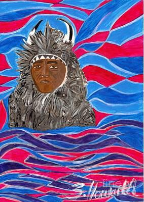 American Indian Buffalo Poster