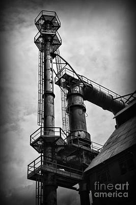 American Industry In Black And White Poster by Paul Ward