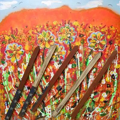 American Mornin' Flower Garden Poster