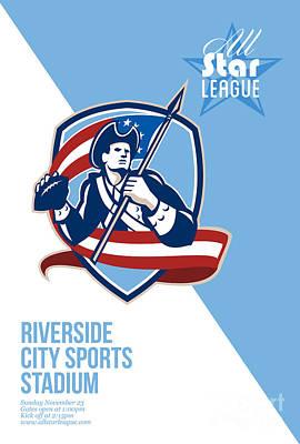 American Patriot Football All Star League Poster Poster by Aloysius Patrimonio