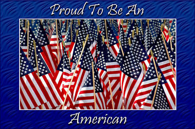 American Pride Poster by Carolyn Marshall