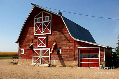 American Red Barn  Poster by Lanjee Chee