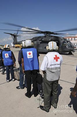 American Red Cross Volunteers Prepare Poster by Stocktrek Images