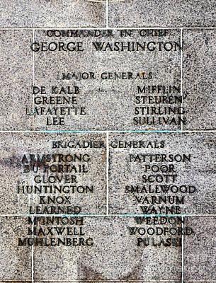 American Revolutionary War Generals Poster