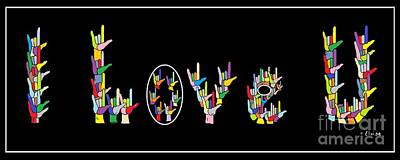 American Sign Language I Love U   Poster