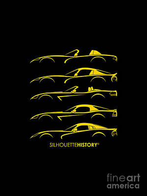 American Snakes Silhouettehistory Poster