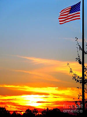 American Sunset Poster by Renee Trenholm