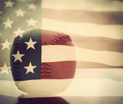 Americana Baseball  Poster