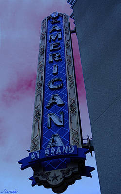 Poster featuring the photograph Americana Vintage Landmark Sign_3 by Renee Anderson