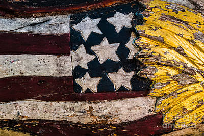 Americana - Stars And Stripes Poster by Dean Harte