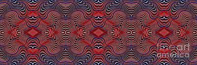Americana Swirl Banner 2 Poster