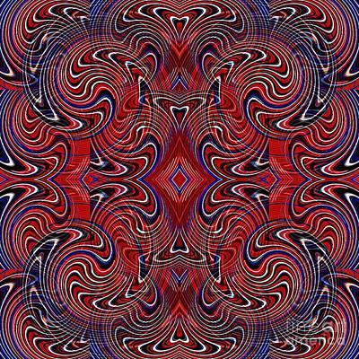 Americana Swirl Design 1 Poster