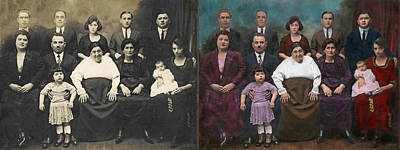 Americana - This Is My Family 1925 - Side By Side Poster by Mike Savad