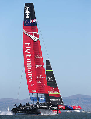 America's Cup Emirates Team New Zealand Poster by Steven Lapkin