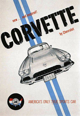 America's Only True Sports Car Poster