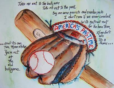 Americas Pastime I Poster by Elaine Duras