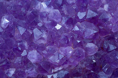 Amethyst Crystal Stone Detail Poster by Pablo Romero