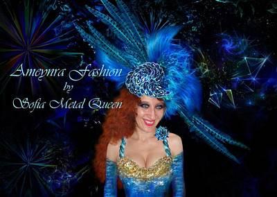 Ameynra Fashion By Sofia Metal Queen. Royal Blue Sapphire Poster