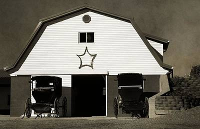 Amish Barn And Buggies Poster by Dan Sproul
