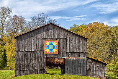 Amish Barn With Hex Poster