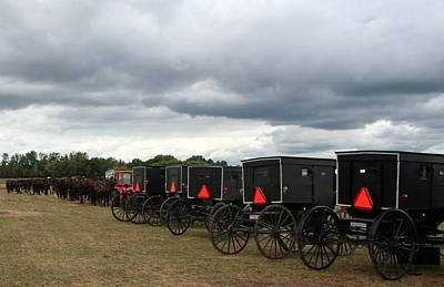 Poster featuring the photograph Amish Car Park by Debra Kaye McKrill