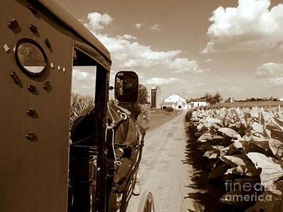 Amish Commute Poster by Rev Richard W Burdett