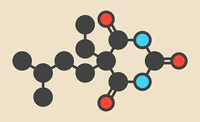Amobarbital Barbiturate Molecule Poster by Molekuul
