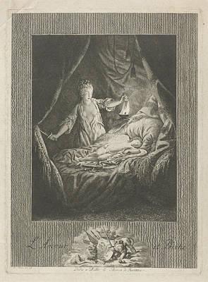 Amor And Psyche, Theodorus De Roode Poster by Theodorus De Roode