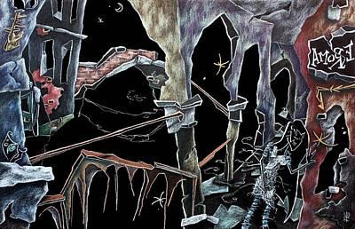 Amore - Dark Fantasy Drawings And Illustration - Dibujo Surrealista  Poster by Arte Venezia