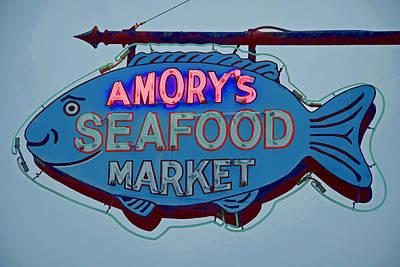 Amory Seafood Sign Poster