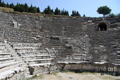 Amphitheater Ephesus Ruins Poster by Christiane Schulze Art And Photography