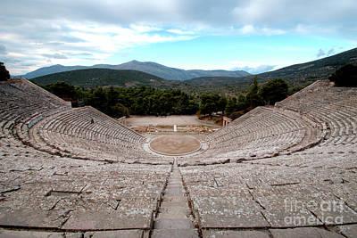 Amphitheatre At Epidaurus 2 Poster