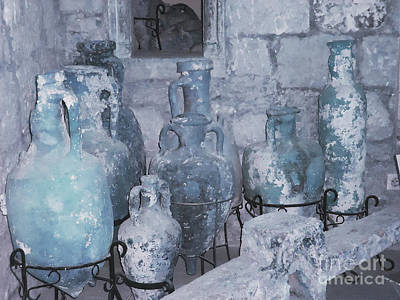 Amphora In Blue Poster
