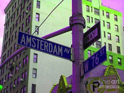 Amsterdam Avenue Poster by Susan Carella