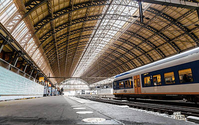 Amsterdam Centraal Railway Station Poster
