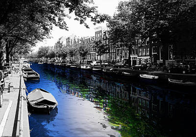 Amsterdam Colorsplash Poster by Nicklas Gustafsson