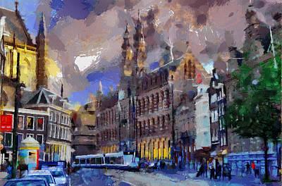 Amsterdam Daily Life Poster by Georgi Dimitrov