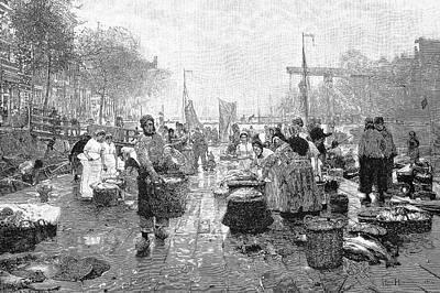 Amsterdam Fish Market Poster by Bildagentur-online/tschanz