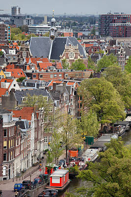 Amsterdam From Above Poster by Artur Bogacki