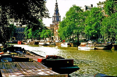 Poster featuring the photograph Amsterdam by Ira Shander