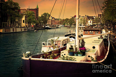 Amsterdam Romantic Canal Poster by Michal Bednarek