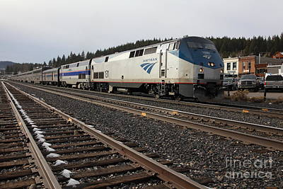 Amtrak California Zephyr Trains In Snowy Truckee California 5d27528 Poster