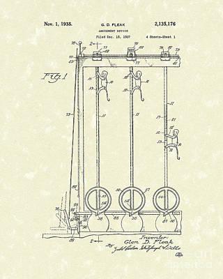 Amusement Device 1938 Patent Art Poster